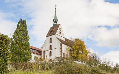 Basel, Riehen, Sankt Chrischona, Kirche, Herbst, Schweiz