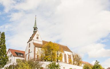 Basel, Stadt, St. Chrischona, Kirche, Pilger, Herbst, Schweiz