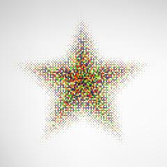 Color Halftone Star