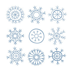 Snowflakes. Winter pattern.