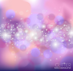 Abstract Glietter background for Greetings card