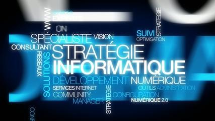 Stratégie Informatique conseil numérique nuage de mots texte