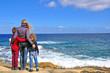 Family at the sea