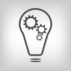 Bulb with gearwheels