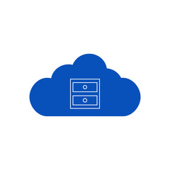 Blue cloud with chest of drawers