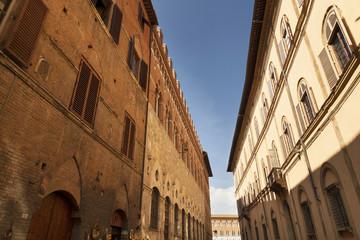 Street in Siena, Tuscany, Italy