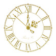 canvas print picture - Old antique wall clock