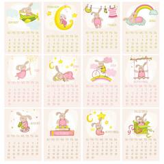 Baby Bunny Calendar 2015