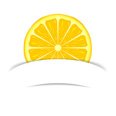 Lemon with paper banner