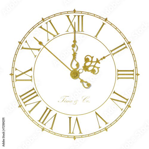 canvas print picture Old antique wall clock