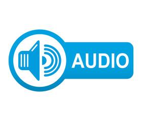 Etiqueta app lateral azul AUDIO