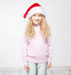 Child in christmas hat