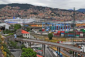 Genua Hafengelände