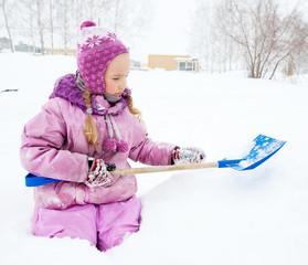 Child in winter
