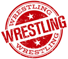 wrestling stamp