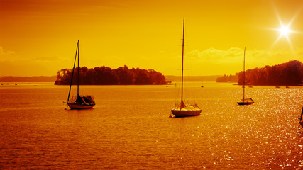 rose island sunset