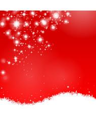 Schnee Sterne rot