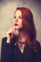 Portrait of a style redhead women