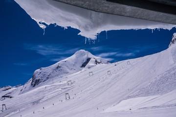 Skifahren am Gletscher Hohe Tauern beim Kitzsteinhorn