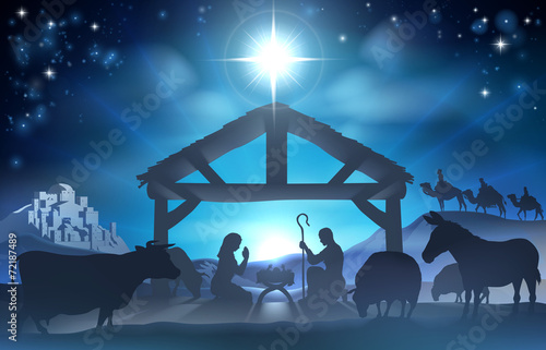 Christmas Nativity Scene - 72187489