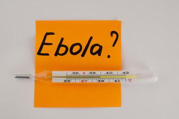 inscription Ebola thermometer