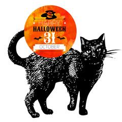 Halloween background. Typographic poster.