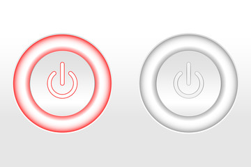 Glowing Power Button White