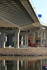 New bridge under construction in Belgrade,Serbia