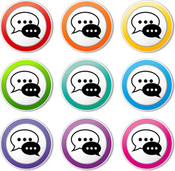 chat speech icons