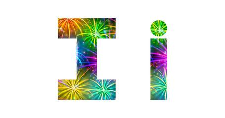 Set of letters, firework, I