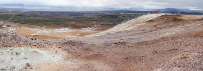 Zone géothermique de Namaskard (Islande)