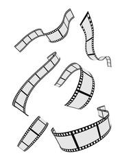 film strip roll design elements