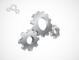 gears cogs 3d icon design