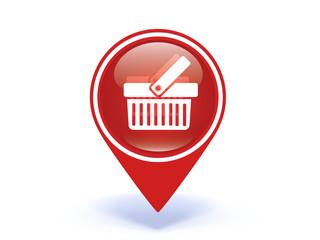 shopping cart pointer icon on white background