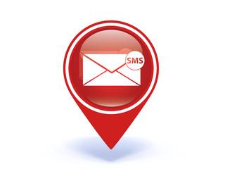 sms pointer icon on white background