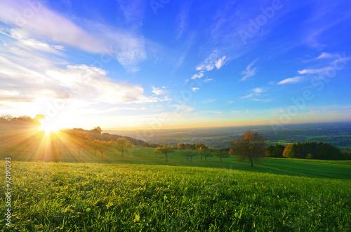 Foto Spatwand Heuvel Horizont Aussicht