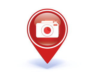 photo pointer icon on white background