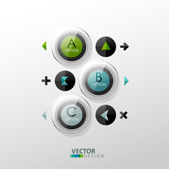 Vector template for web design or infographic