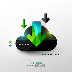Cloud service concept illustration