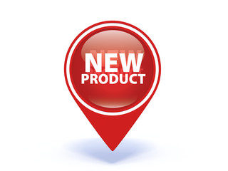 new product pointer icon on white background