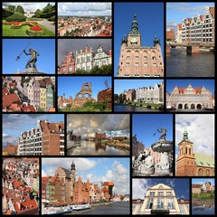 Poland - Gdansk travel collage