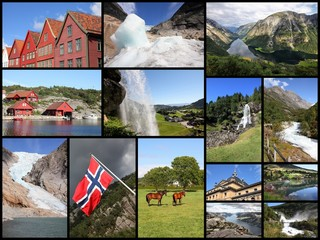 Norway photography - travel collage