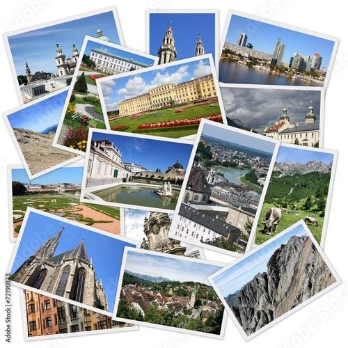 Leinwandbild Motiv Austria photos - travel collage