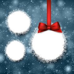 Paper christmas balls.