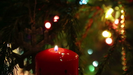 the end of the holiday - the candle goes out, and the Christmas