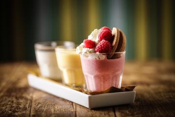 A colourful dessert