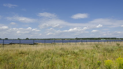 Solarpark, Zeitraffer