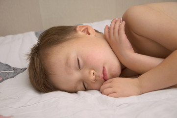Adorable boy sleeping