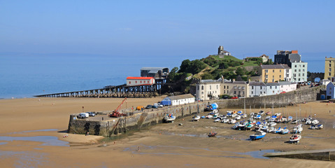 Tenby harbour, in south Wales