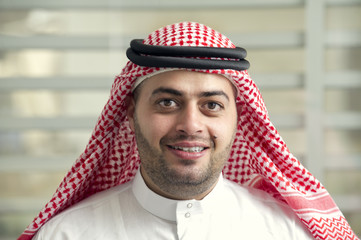 Arabian young businessman standing in the office